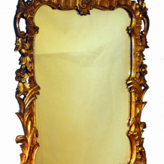 Antique Chippendale Style Gilt Mirror