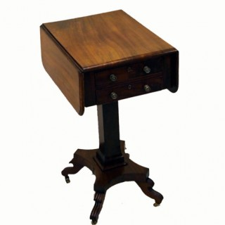 Antique Mahogany Baby Pembroke Table