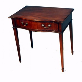 Antique Mahogany Serpentine Side Table