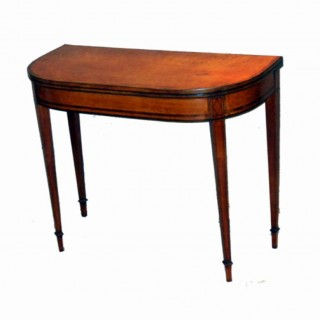 Antique Satinwood Card Table