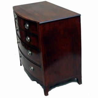 Antique Mahogany Bowfronted Chest Of Drawers