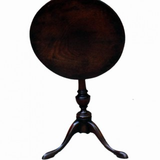 Antique Mahogany Miniature Tripod Table
