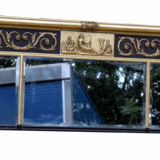 Antique Regency Gilt Overmantle Mirror