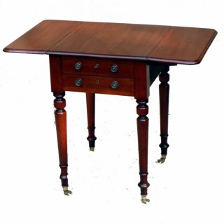 Antique Mahogany Victorian Baby Pembroke Table