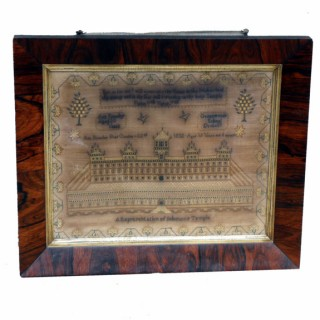 Antique Needlework Sampler