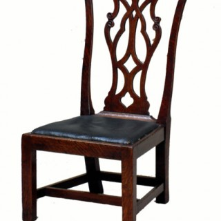 Antique Victorian Oak Childs Chair