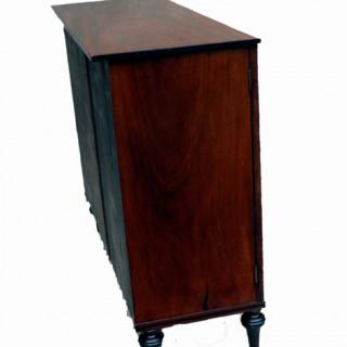 Antique Mahogany Side Cabinet Cheffonier