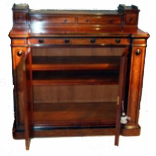 Antique Mahogany Side Cabinet Cupboard Cheffonier