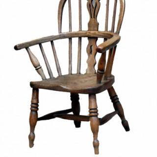 Antique Ash & Elm Childs Windsor Chair