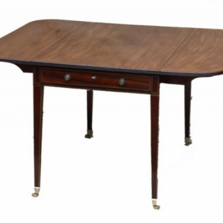 Large Antique Mahogany Pembroke Dining Table