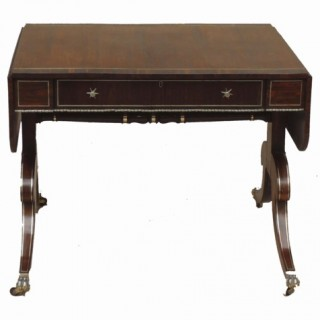 Regency Antique Rosewood Sofa Table