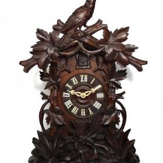 Antique Black Forest shelf cuckoo clock