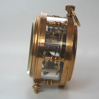 French Fusee Drum Clock with dual plane escapement