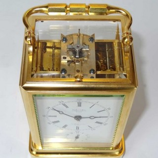 Le Roy & Drocourt One piece Strike repeat Alarm Carriage Clock