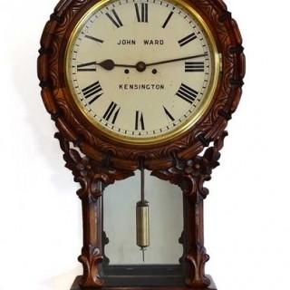 Striking fusee Drop dial Wall clock by Ward, Kensington