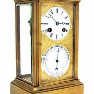 French Four-Glass Clock and Barometer