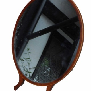 Antique Oval Toilet Mirror