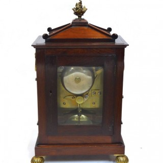 Rosewood & brass inlaid bracket clock by Frodsham
