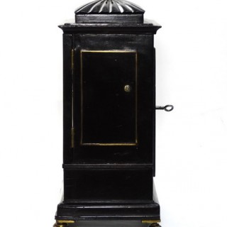 Small fusee Library Clock - Chater, London