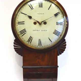 Twin fusee Drop Dial Wall Clock