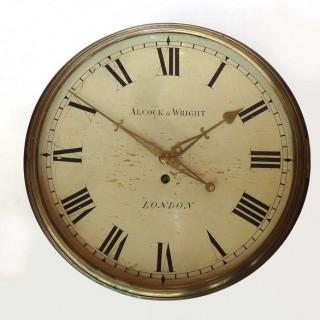 Mahogany single fusee Verge Dial Clock