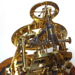 Skeleton Clock with Coup Perdu escapement