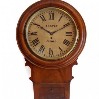 Drop Dial fusee Wall Clock - Argyle, Oxford