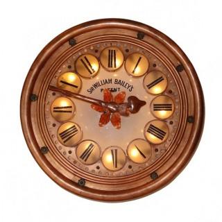 Arts & Crafts large illuminated wall clock