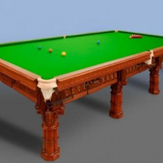 A very attractive full size snooker table originally manufactured by Burroughes & Watts