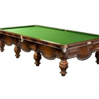 A very good full size snooker table, made by Burroughes & Watts.