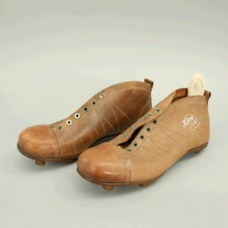 Vintage Pair of 'Kikorf' Leather Football Boots