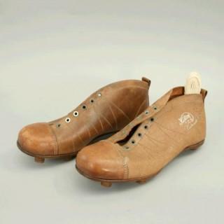 Vintage Pair of 'Kikorf' Leather Football Boots