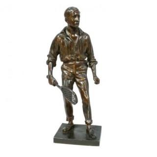 Vintage Bronze Tennis Figure, Renshaw