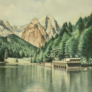 OIL PAINTING OF Rissersee, GERMANY