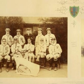 Cambridge University Queen's Double Rowing Photograph