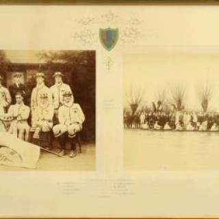 Cambridge University Queen's Double Rowing Photograph