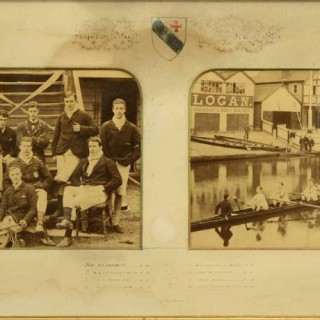 Cambridge University, Ayerst Hall Double Rowing Photograph