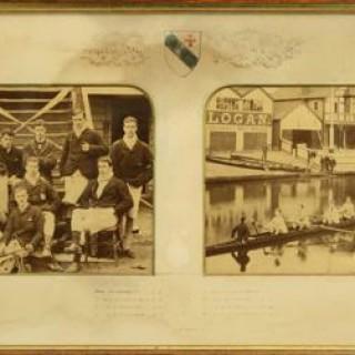 Cambridge University, Ayerst Hall Double Rowing Photograph