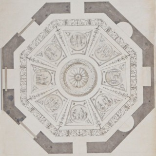 Octagon room ceiling design for Chute Lodge, near Andover, Hampshire