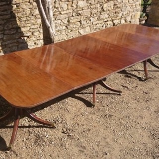 George III Three Pedestal Antique Dining Table
