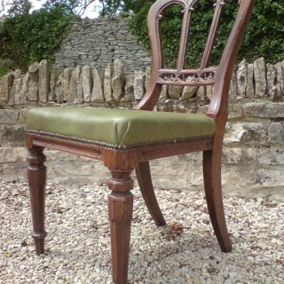 Good Early Set of 6 Gothic Oak Dining Chair