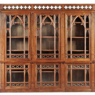 Huge French Gothic Bookcase