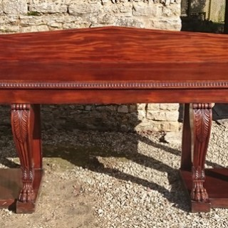 Impressive Large Country House Regency Mahogany Serving Table