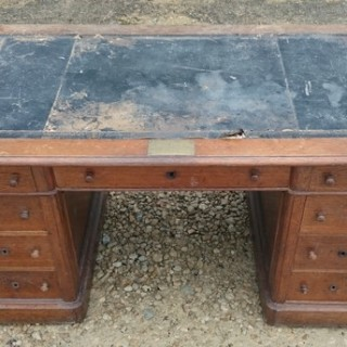 Large 19th Century Pedestal Desk