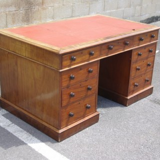 Large Antique Pedestal Desk