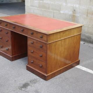 Large Antique Pedestal Desk