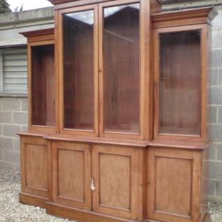 Oak Breakfront Bookcase