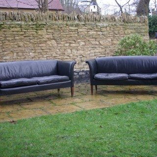 Pair of Antique Danish Designer Sofas