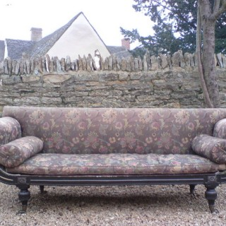 Regency Ebonised Sofa