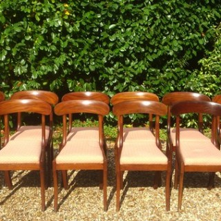 Set of 12 Antique Dining Chairs